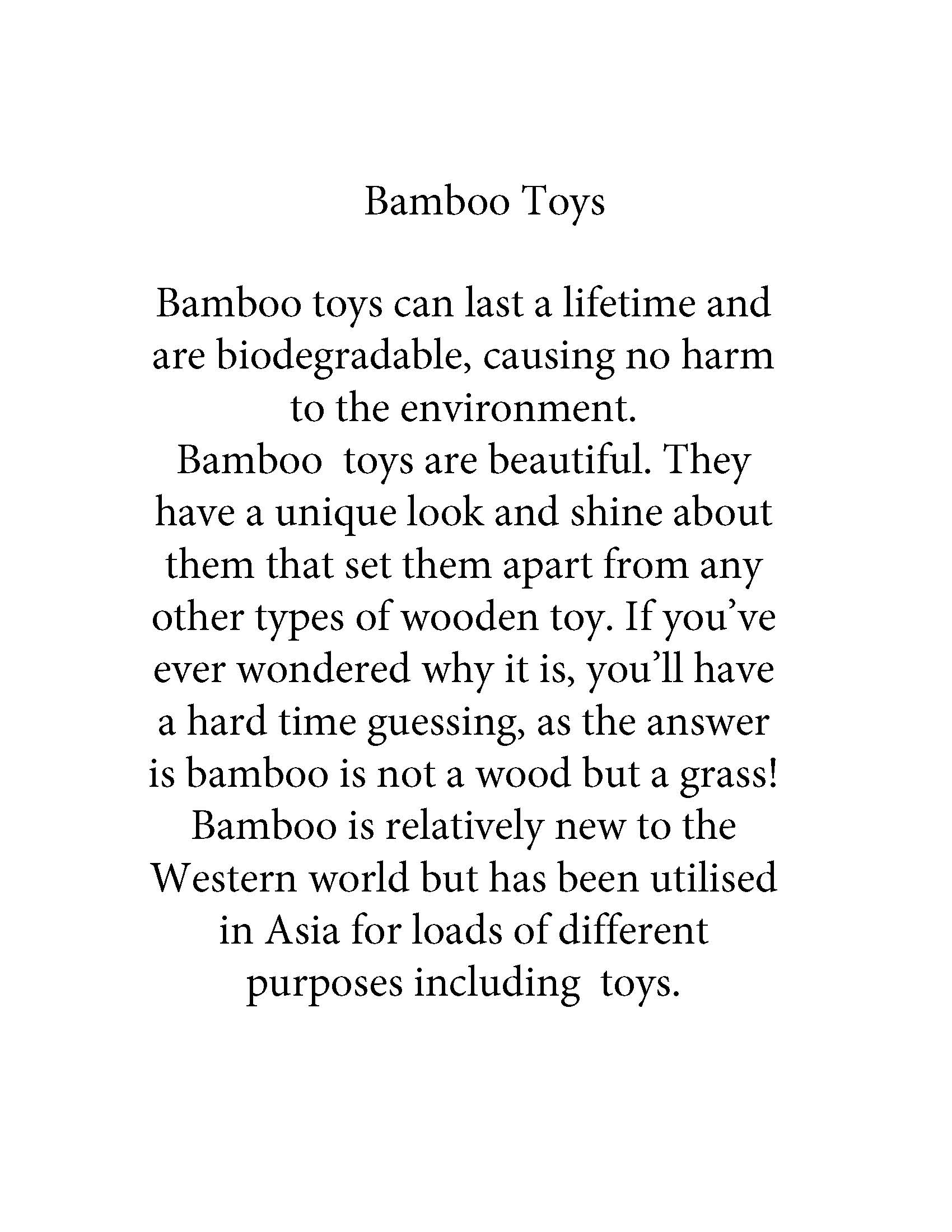 Bamboo Toys