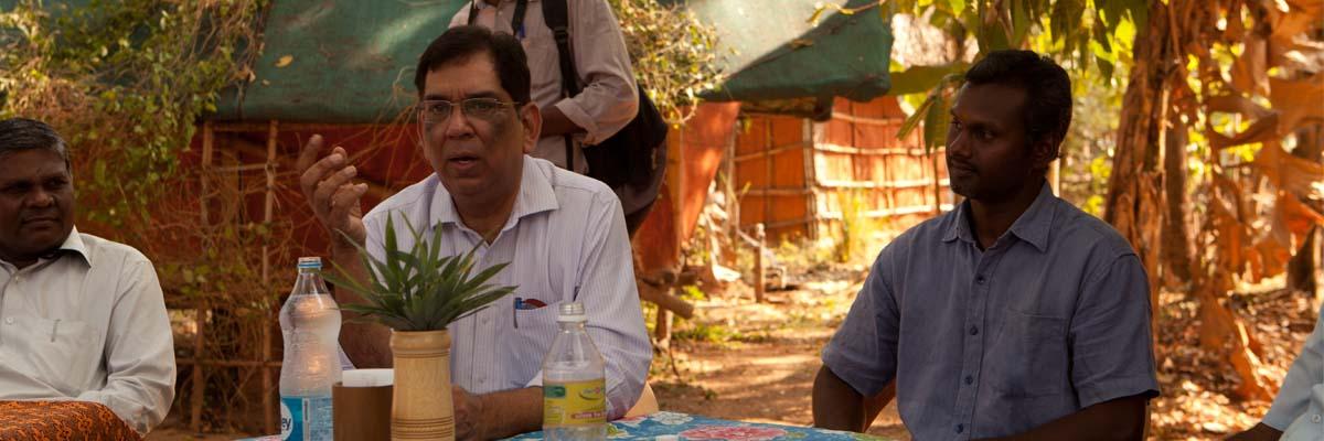 Shri Sanjay Kumar, Deputy Director General, National Bamboo Mission visits Auroville Bamboo Centre